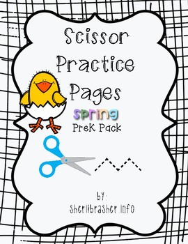 Scissor Practice Pages: Spring Day Pack