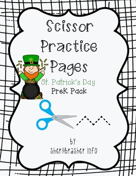 Scissor Practice Pages: St Patrick's Day Pack
