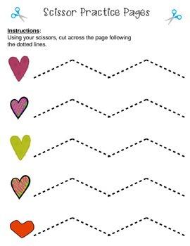 Scissor Practice Pages: Valentine's Pack