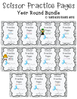 Scissor Practice Pages: Year Round Bundle Pack {SAVE 20%}