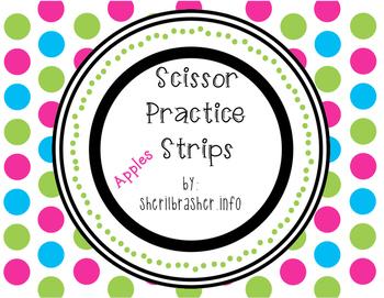 Scissor Practice Strips: Apples Pack