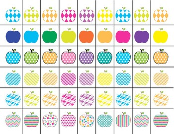 Scissor Practice Strips: Apples Pack, Medium