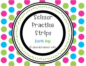 Scissor Practice Strips: Earth Day Pack, Small
