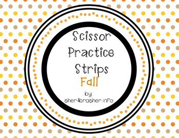 Scissor Practice Strips: Fall Pack, Small