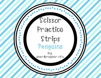 Scissor Practice Strips: Penguins Pack, Medium