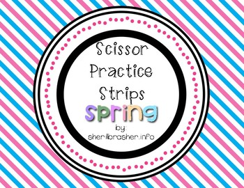 Scissor Practice Strips: Spring Pack, Large