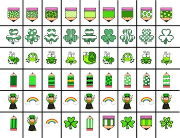 Scissor Practice Strips: St Patrick's Day Pack, Medium