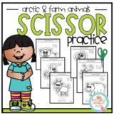 Scissor Practice with Arctic & Farm Animals