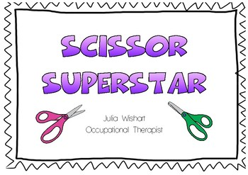 Cutting Practice: Scissor Skill Development Certificate 'Scissor Superstar'