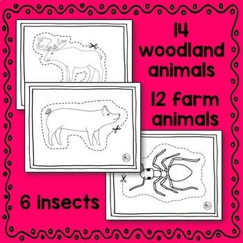 Animal Bundle Scissoring Skills (arctic, farm, insect, ocean, woodland, zoo)