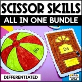 Scissor Skills Cutting Practice (Color & Cut Pages)