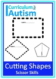 Scissor Skills Cutting Shapes Autism