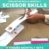 Scissor Skills Cutting Strips 11 Monthly Sets
