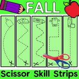 Fall Fine Motor Cutting Practice