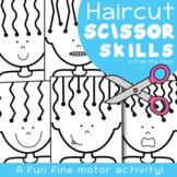 Scissor Skills Haircut Worksheets