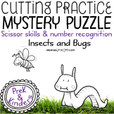 Fine Motor Cutting Activity and Number Recognition Puzzle, Insects & Bugs