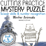 Fine Motor Cutting Activity and Number Recognition Puzzle Winter Animals