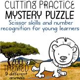 Scissor Skills – Mystery Puzzle, Zoo Themed