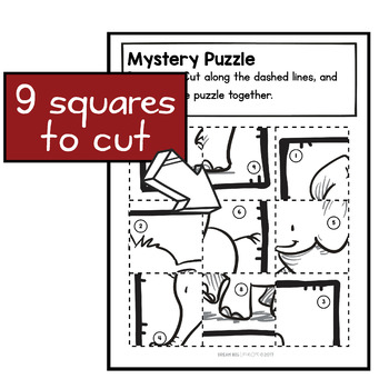 Fine Motor Cutting Activity and Number Recognition Puzzle, Zoo Themed