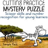 Scissor Skills – Mystery Puzzle, Zoo Themed Freebie