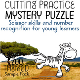 Fine Motor Cutting Activity and Number Recognition Puzzle, Zoo Themed Freebie
