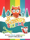 "Scissor Skills Sampler Pack: 5 Color, Cut & Paste ""Craftiv"