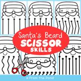 Scissor Skills Santa Beard Worksheets | Christmas Activities