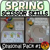 Scissor Skills Spring Scissors Practice Cut and Paste No P