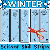 Scissor Skills {Winter Fine Motor Bin}