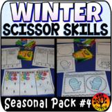 Scissor Skills Winter Scissors Practice Cut and Paste No P