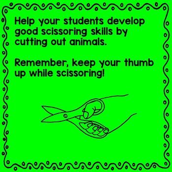 Scissor Skills - Woodland Animals