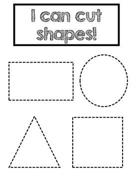 scissor skills and shape cutting by e steel teachers pay teachers. Black Bedroom Furniture Sets. Home Design Ideas
