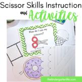 Scissor Skills: teacher book, cutting practice +
