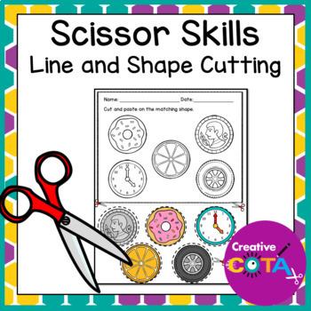 Scissor Skills Worksheets By Creativecota Teachers Pay Teachers
