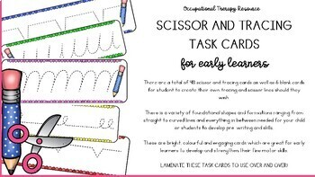 Scissor & Tracing Task Cards for Early Learners - Occupational Therapy Resource