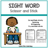 Scissor and Stick Sight Words | Cut and Paste Sight Word Practice