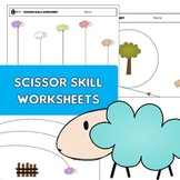 "Scissor skills cutting practice worksheets ""happy sheep"" for Preschool & OT"