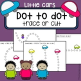 Scissor cutting skills and tracing practice - Little Cars