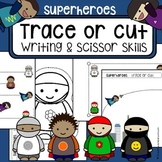 Scissor cutting skills and tracing practice - Superheroes