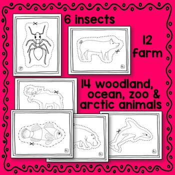 Scissoring BUNDLE - Letters, Numbers, and Animals