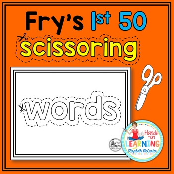 Fry's 1st 50 Sight Word Scissoring