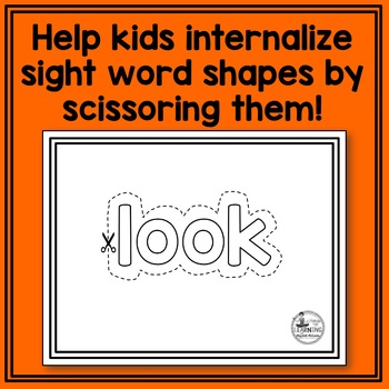 Fry's 2nd 50 Sight Word Scissoring
