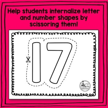 Letter and Number Scissoring