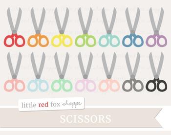 Scissors Clipart; School Supplies