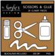 Scissors & Glue 1 Clipart {A Hughes Design}