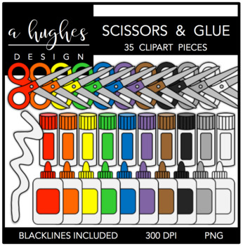 Scissors & Glue 1 {Graphics for Commercial Use}