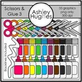 Scissors & Glue 3 Clipart {A Hughes Design}