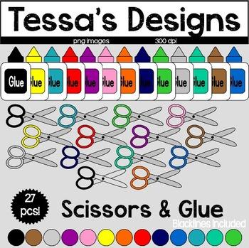 Scissors & Glue Clipart