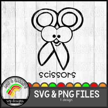 Scissors Label SVG Design