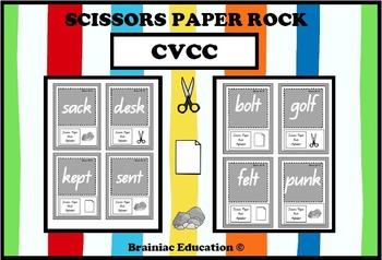 Scissors Paper Rock CVCC Words